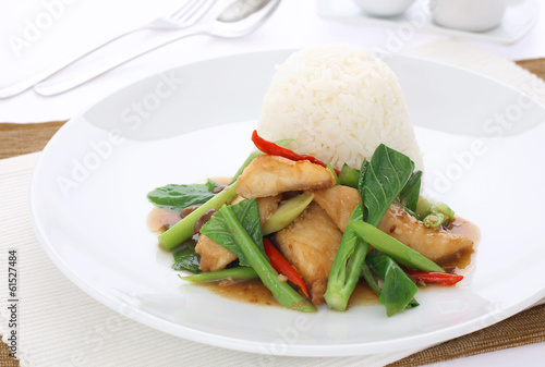 Stir Fried Vegetables with chicken