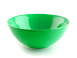 green bowl on the white background