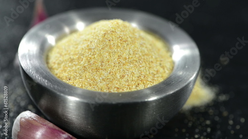 Rotating Garlic Spice (loopable) full HD close-up Video