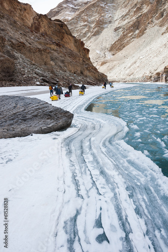 Chadar Trek or Frozen Zanskar River Trek, Ladakh, India
