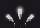 Energy saving bulbs with cords