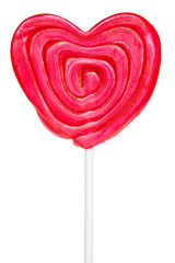 Heart-shaped lollipop