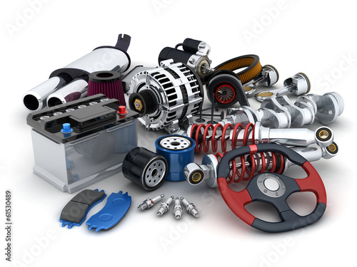 Leinwandbild Motiv Car parts