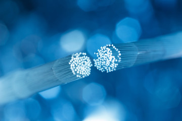 Optic fiber cable connecting