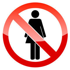 No woman icon