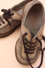 Vieilles Chaussures d'enfant - Cuir