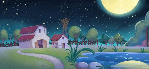 granja de noche