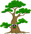 Happy Cartoon Tree