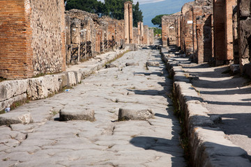 Ruins of ancient town Pompeii in Italy