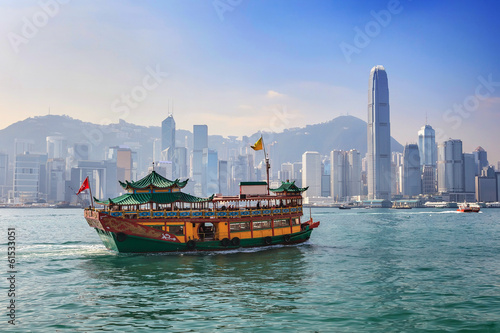 In de dag Aziatische Plekken Hong Kong city skyline view from Kowloon