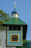 monastery chapel of  clock on the Pskov-Caves Monastery poster