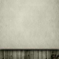 Blank paper sheet on wooden planks background