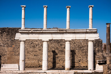 Famous ruins of ancient town Pompeii in Italy