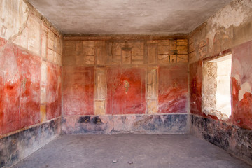 Fresco at the ancient Roman city of Pompeii