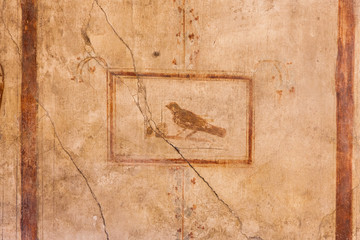 Fresco at the ancient Roman city of Pompeii, which was destroyed