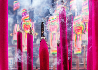 Chinese incenses with smoke