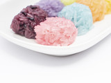 Colorful Sticky Rice ball shape