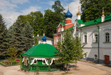 Source of holy water on  territory of  Pskov-Caves Monastery poster