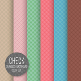 Check Diagonal Seamless pattern. Geometrical vector background.