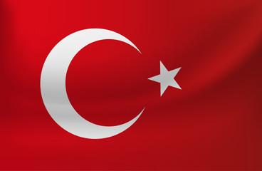 vektörel Türk bayrağı