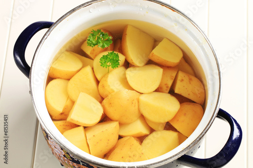 Potatoes in a pot