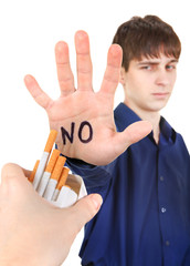 Teenager refuse Cigarettes