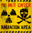 Radiation area warning, vector illustration
