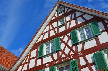 Fassade eines Fachwerkhauses in Oberkirch