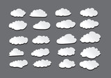 design of clouds Vector illustration