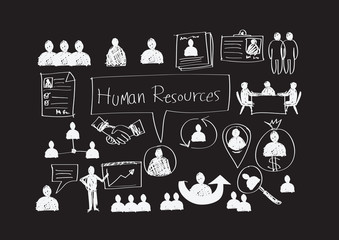 Human Resources Management icons