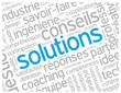 """Nuage de Tags """"SOLUTIONS"""" (créativité idées imagination projets)"""