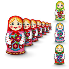 Russian doll matryoshka