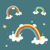 Cute rainbows characters - 61539208