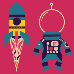 Rocket and astronaut costume