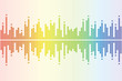 Graphic equalizer color white background