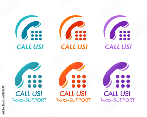Call us! buttons for phone customer support