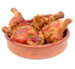 Bowl of spicy chicken wings