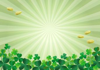 聖パトリック 祝日 クローバー St. Patrick's Day Background
