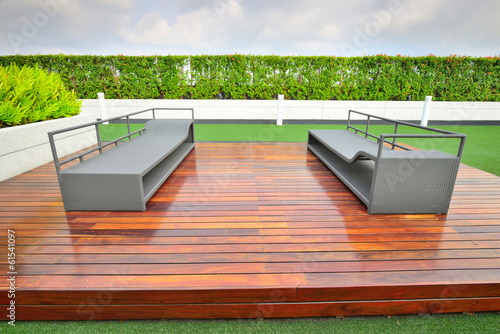 Landscape of garden on rooftop