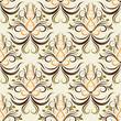 seamless wallpaper. damask pattern. floral background