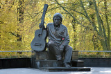 Monument of Vladimir Vysotsky in Kaliningrad, Russia