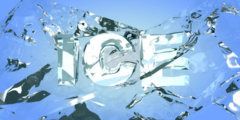 Breaking the ice. Abstract backround