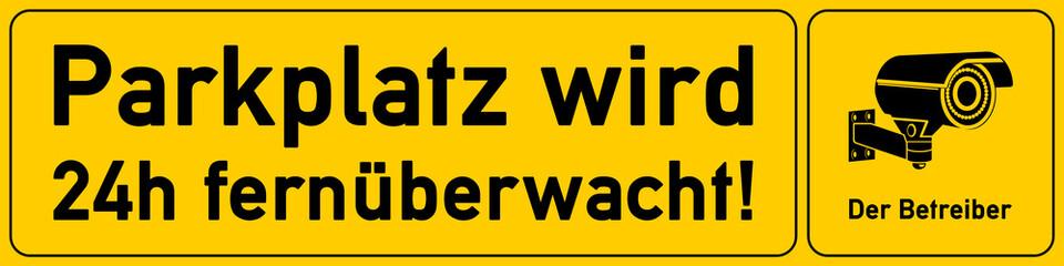 Parkplatz wird 24h fernueberwacht - g546 - vu38
