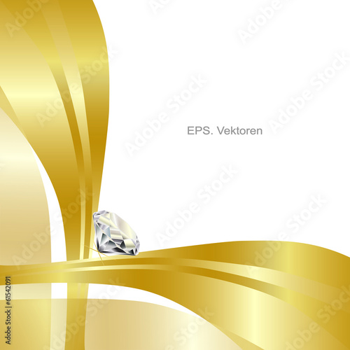 Golden background with diamond I