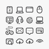 Different web icons set with rounded corners. Design elements