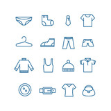 Different clothes silhouettes vector collection