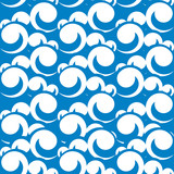 vector seamless pattern illustration of sea waves