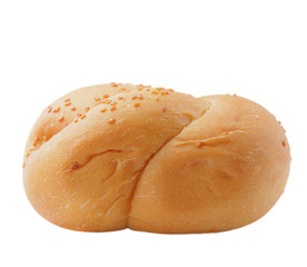 Bread isolated on white with clipping path.