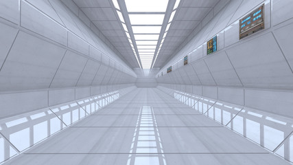 Futuristic corridor