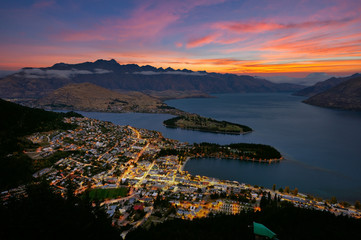 Quennstown city in New Zealand